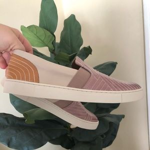 Frye Ivy Stitch Slip On Lavender and Leather